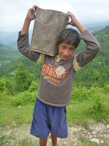 Santosh...strongest 15 year-old in Nepal!
