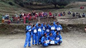 The KRT (Kerasawara Rescue Team) at their 'graduation'.