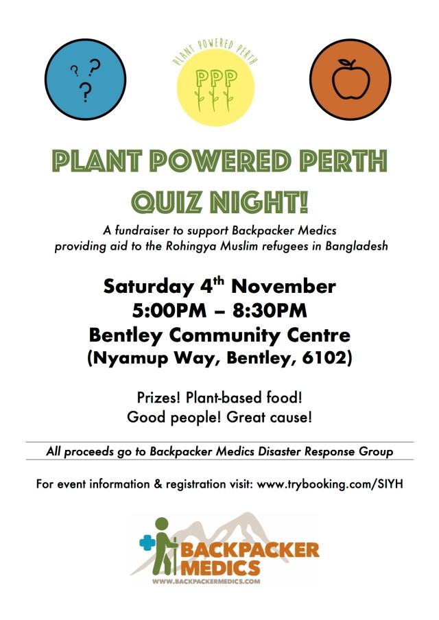Plant Powered Perth Quiz Night Fundraiser